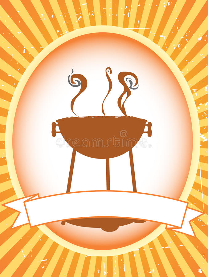 Blank brown bbq product label stock photography
