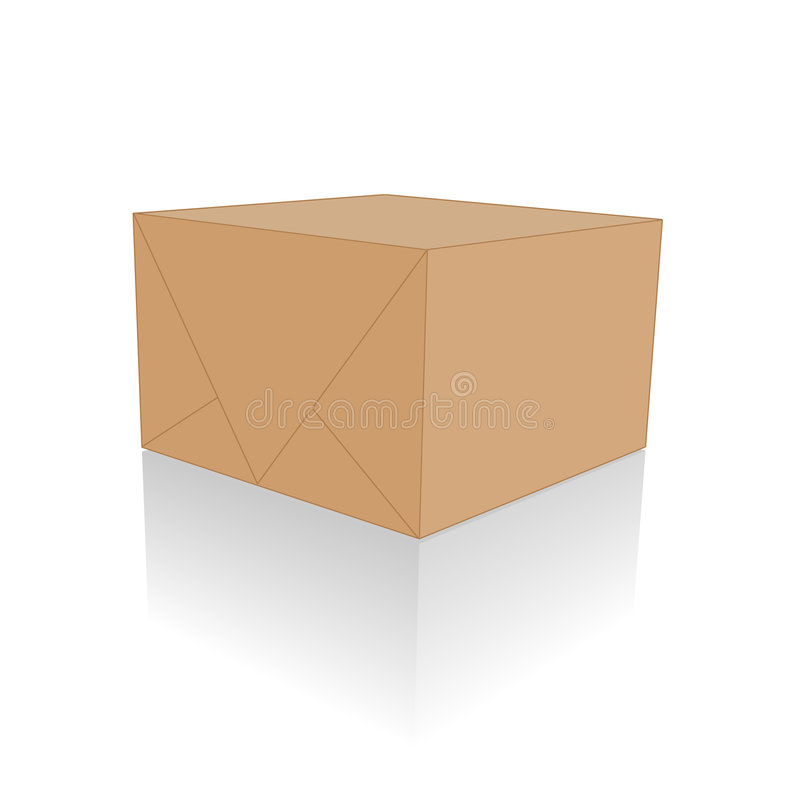 Download Blank Brown Package stock illustration. Illustration of hurry - 4107514