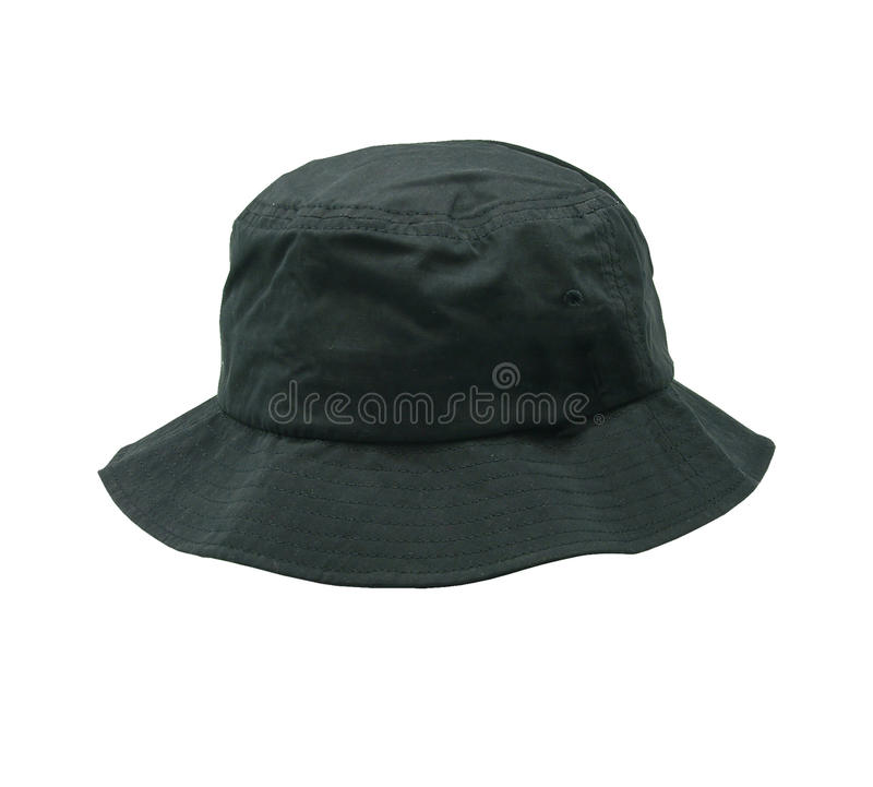 Blank bucket hat color black stock photos