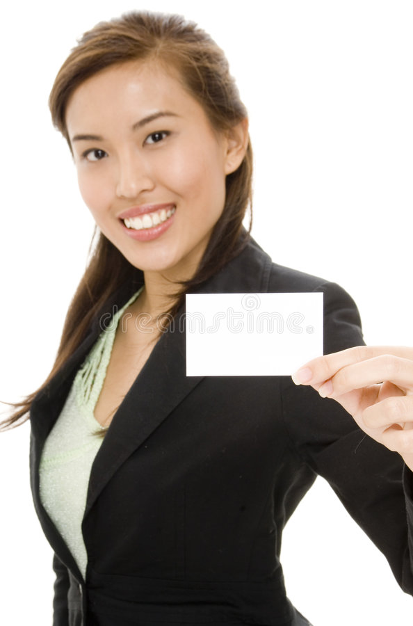 Blank Business Card royalty free stock photo