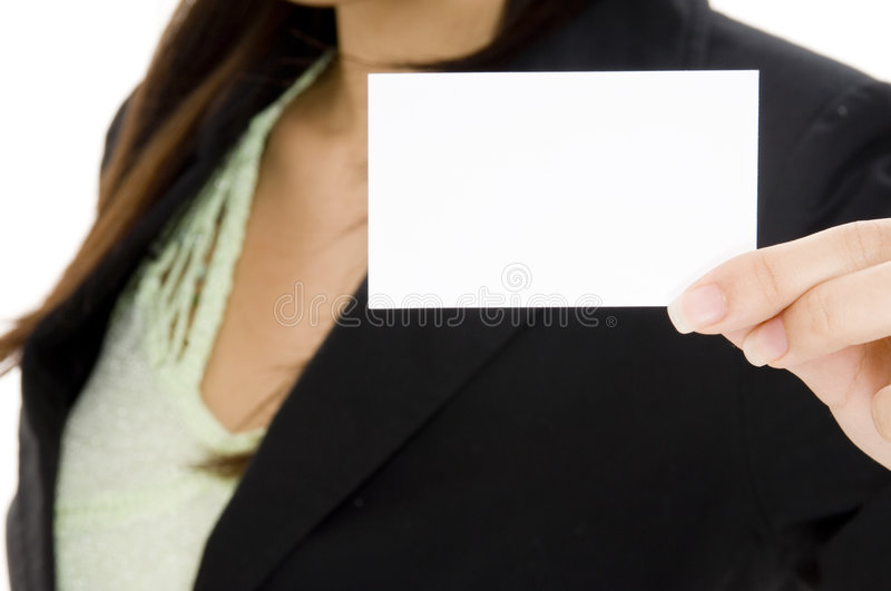 Download Blank Business Card stock photo. Image of professional - 1243896
