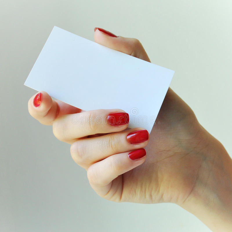 Download Blank Business Card stock photo. Image of fingers, blank - 14217992