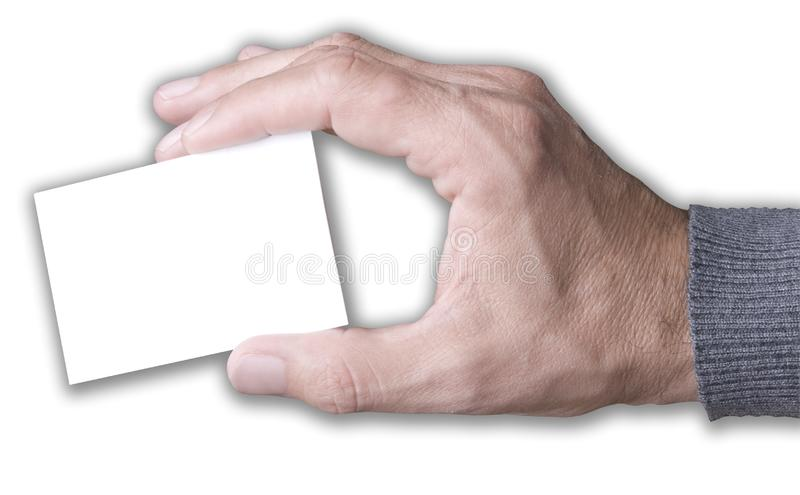 Blank business card. stock photography