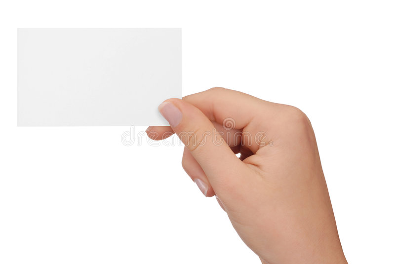 Download Blank Business Card stock image. Image of white, empty - 6881299
