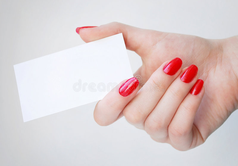 Download Blank Business Card stock photo. Image of finger, fashion - 8734164