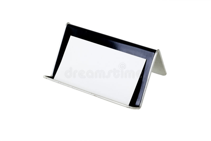 Download Blank Business Card And Holder Stock Photo - Image: 5231328