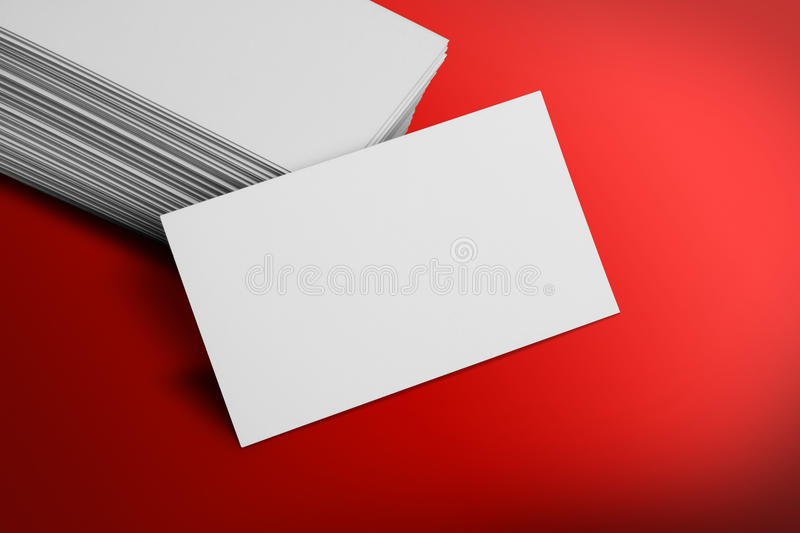 blank business card mockup on red background stock photo image of