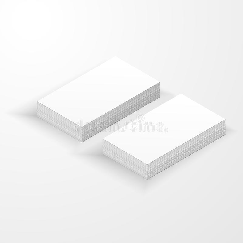Blank business card mockup template stock illustration download blank business card mockup template stock illustration illustration of name front 117195656 wajeb Image collections
