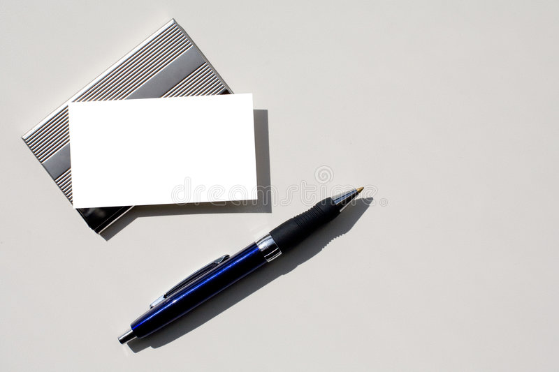 Download Blank Business Card And Pen With Clipping Path. Stock Photo - Image of showing, isolated: 5640452