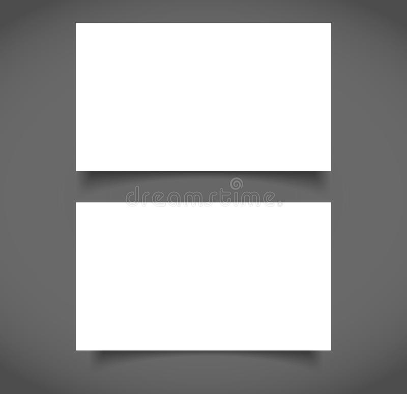 Blank Business Card With Shadow Mockup Cover Template. Stock Vector ...