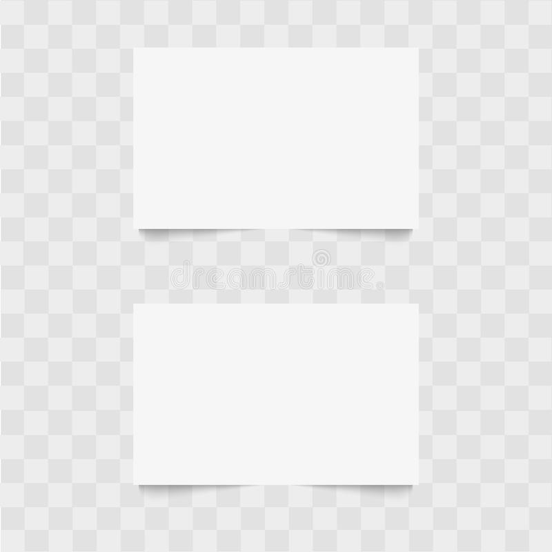 Blank of business card with soft shadow. Vector royalty free stock photos