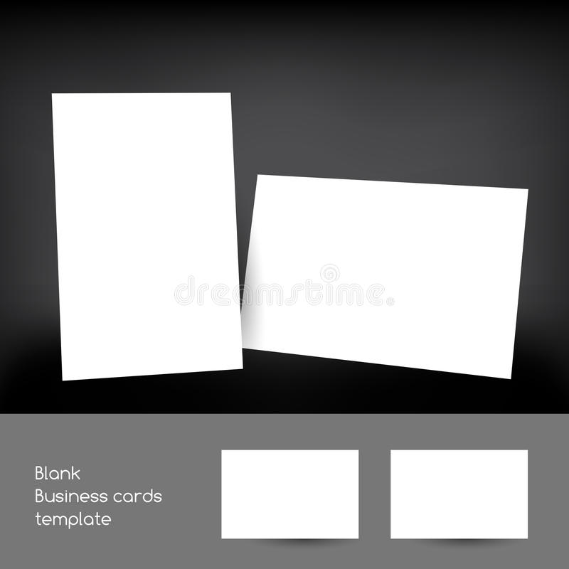 Blank business card. Template, vector illustration stock illustration