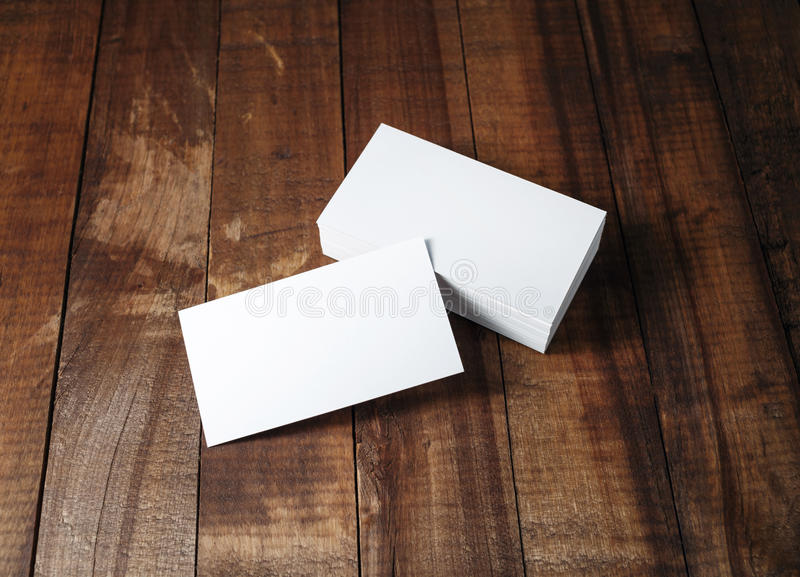 Blank business cards mock-up royalty free stock photography