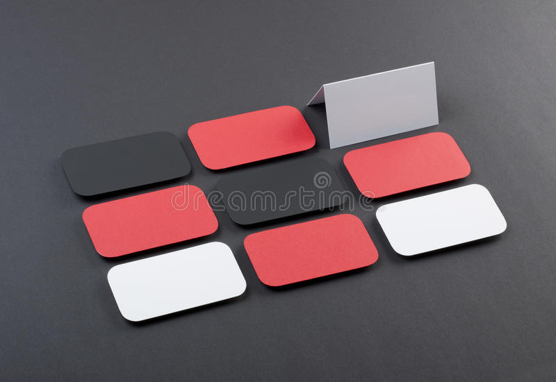 Blank business cards with rounded corners on a gray background stock download blank business cards with rounded corners on a gray background stock image image of reheart Gallery