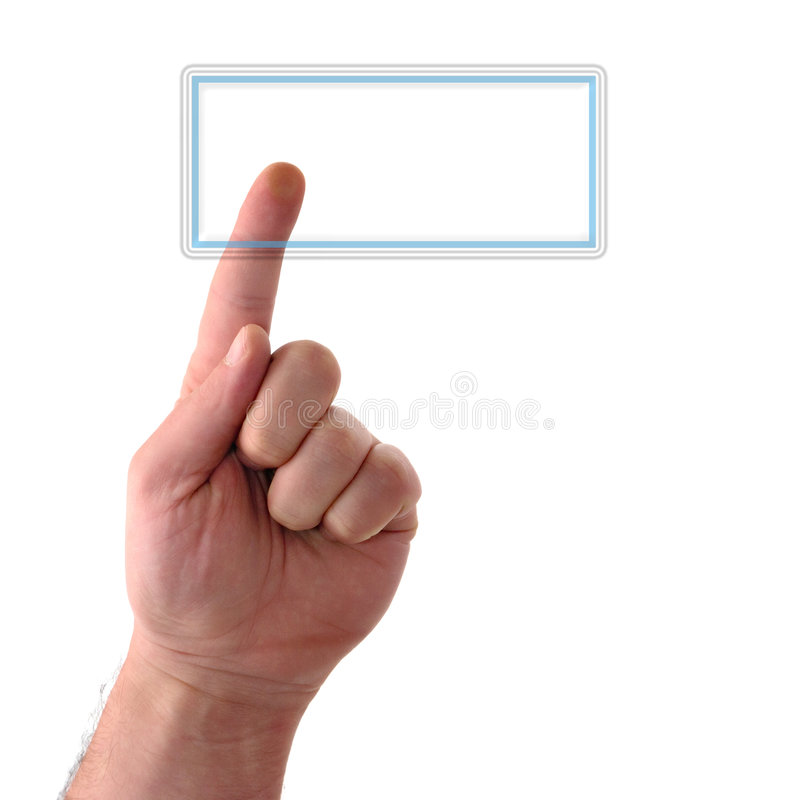 Blank Button Royalty Free Stock Photo