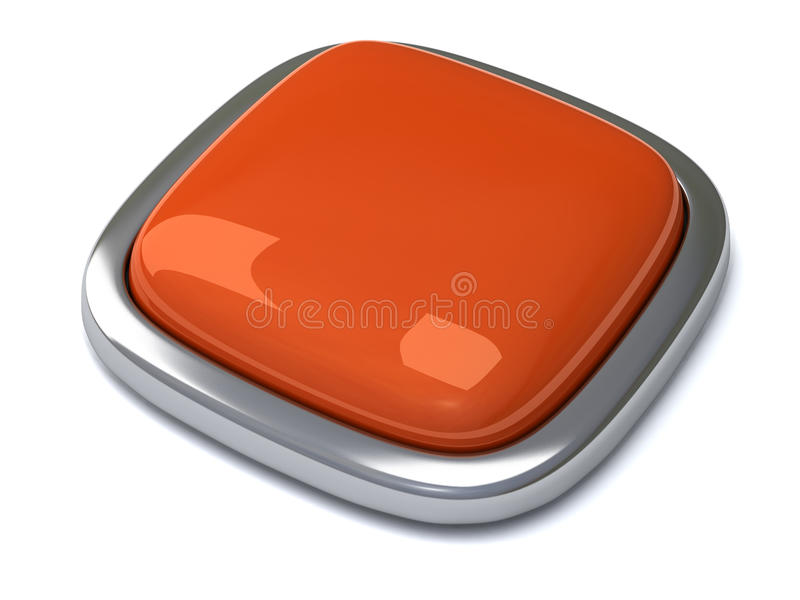 Blank button 3d vector illustration