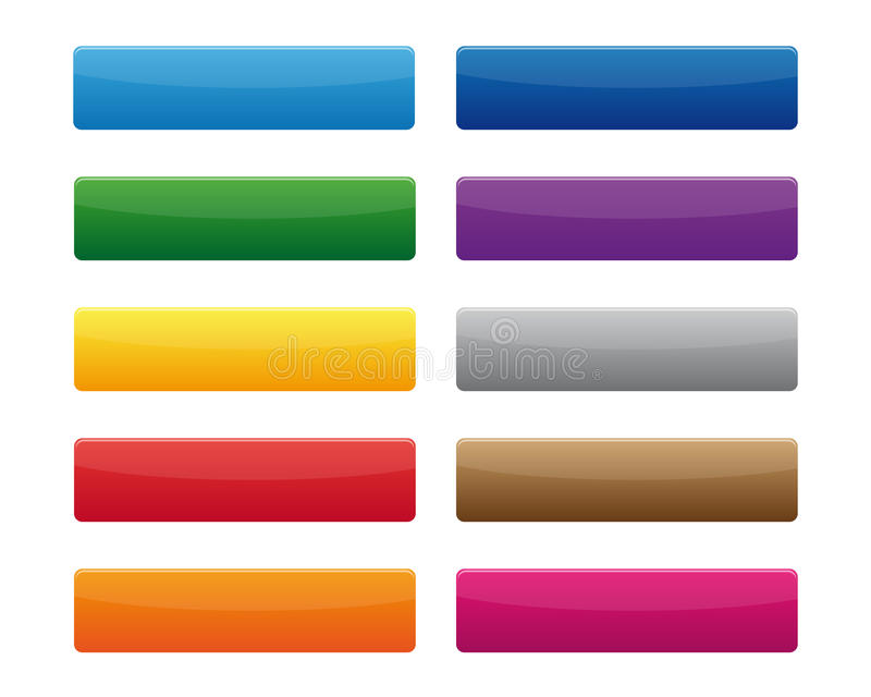 Blank buttons. Collection of blank buttons in various colors