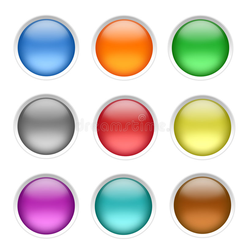 Blank Buttons royalty free illustration