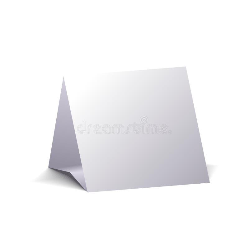 Blank calendar. Blank desktop calendar, isolated on white background. 3D image royalty free illustration