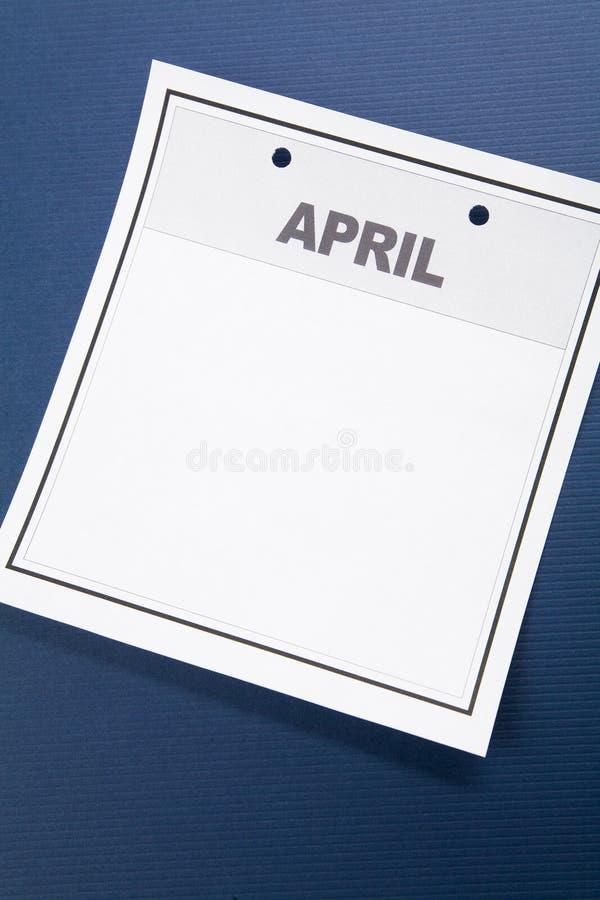 Blank Calendar stock photography