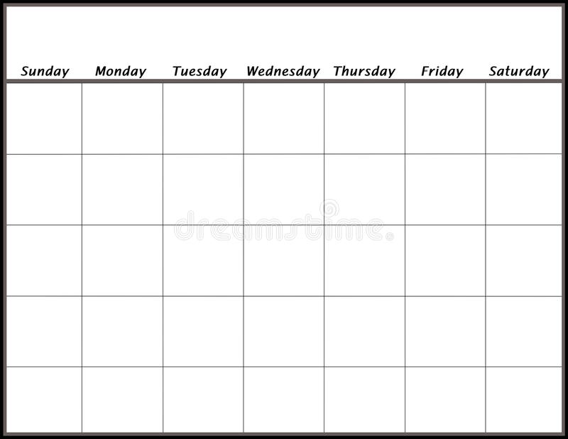 Blank Calendar stock illustration