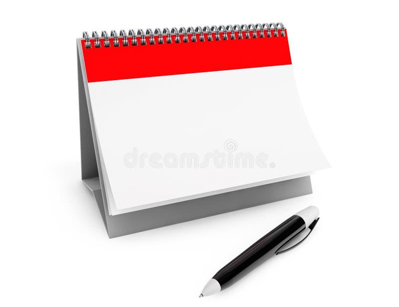 Blank calendar and marker pen vector illustration