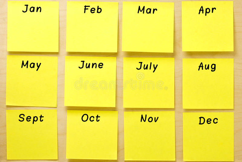 Download Blank Calendar Yellow Post It Collection Stock Image   Image Of  Quarter, Well  Collection Note
