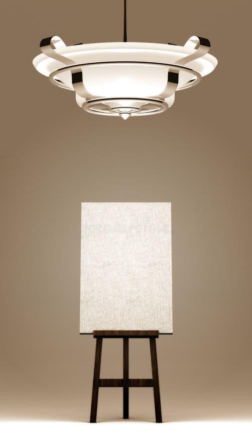 Download Blank Canvas stock illustration. Illustration of ceiling - 20583746