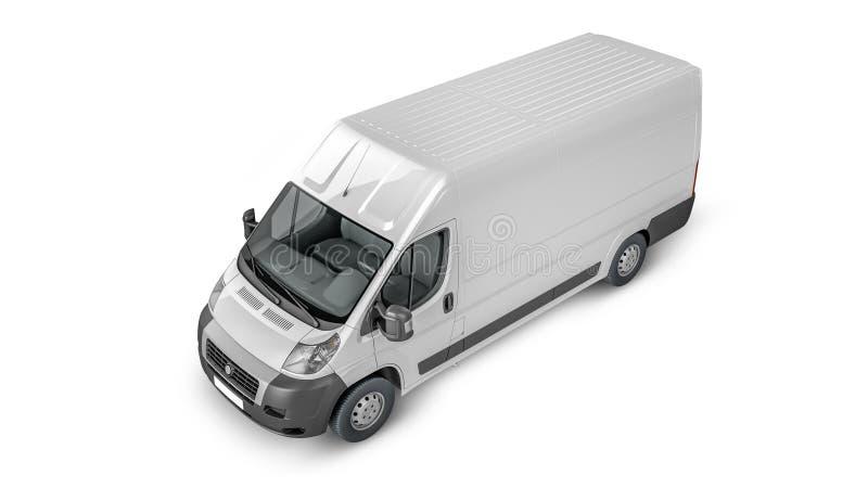 Delivery Van Mock up royalty free illustration