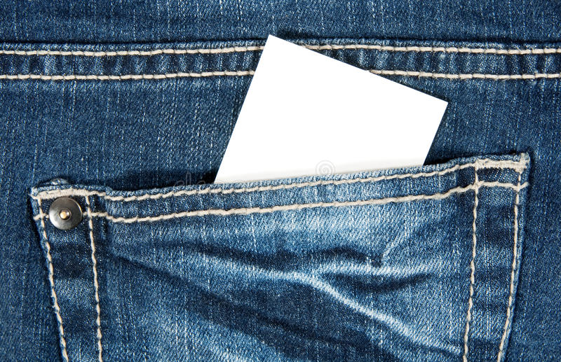 Download Blank Card In Blue Jeans Pocket Stock Photo - Image of denim, card: 16211110