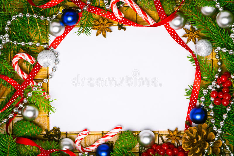 Blank card for christmas greetings royalty free stock photos