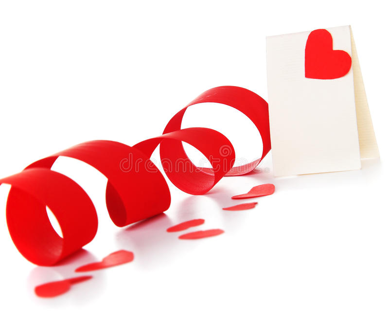 Download Blank card with red heart stock photo. Image of image - 17760680