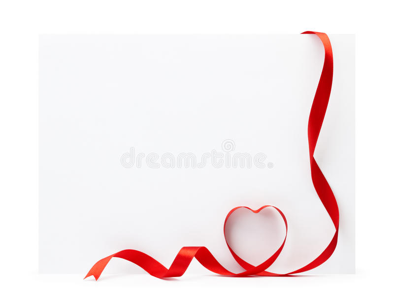 Download Blank card with ribbon stock photo. Image of text, copy - 12740768