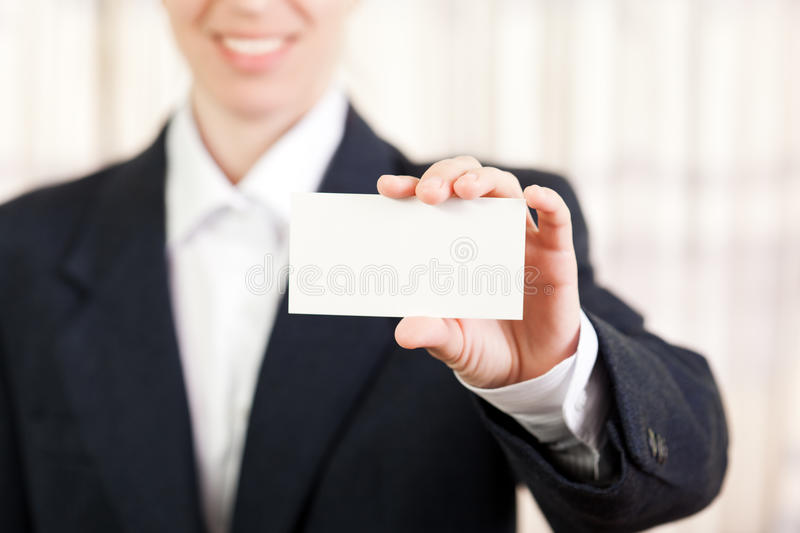 Download Blank card in women hand stock image. Image of cheerful - 19559991