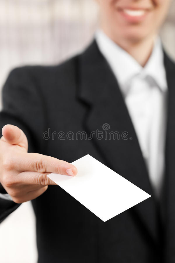 Download Blank card in women hand stock image. Image of card, cardboard - 19739469