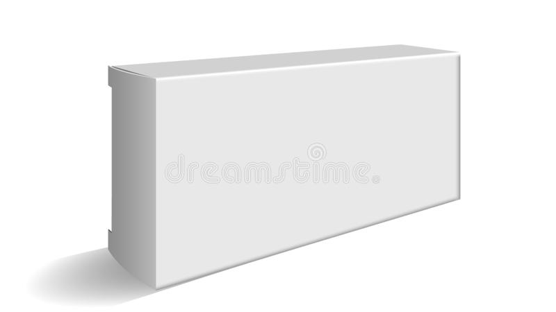 Blank Carton Package For Cosmetic Or Pills Vector vector illustration