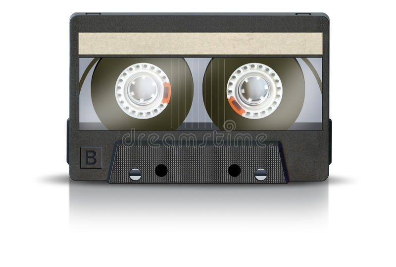 Blank Cassette Tape stock photos