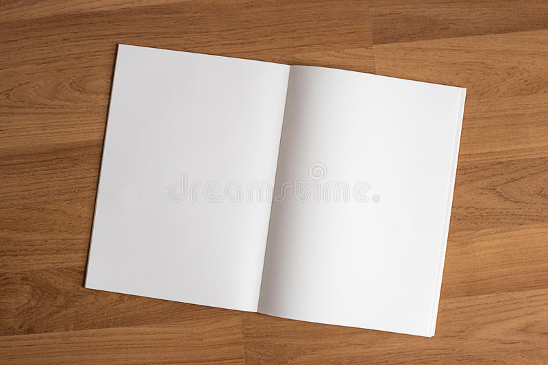 Blank catalog and book , magazines mock up on wood background format brochure on a wooden stock photography