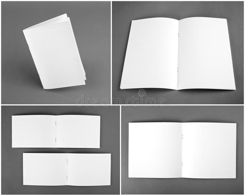 Blank catalog, brochure, magazines, book mock up. Blank catalog, brochure, magazines, book mock up royalty free stock photos