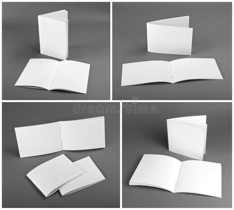 Blank catalog, brochure, magazines, book mock up. Blank catalog, brochure, magazines, book mock up royalty free stock photo