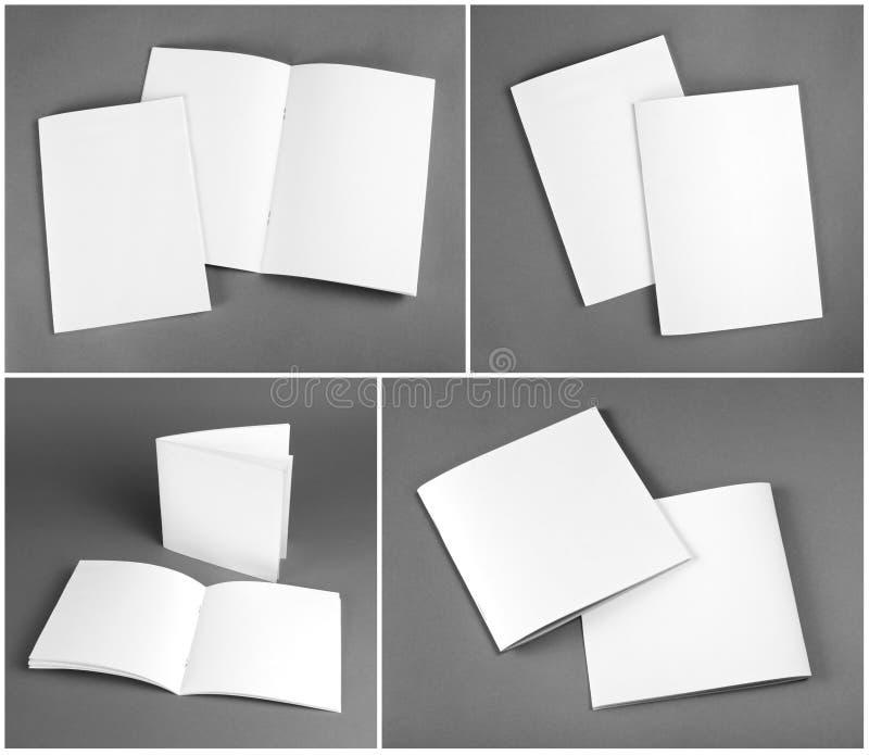 Blank catalog, brochure, magazines, book mock up. Blank catalog, brochure, magazines, book mock up stock photography