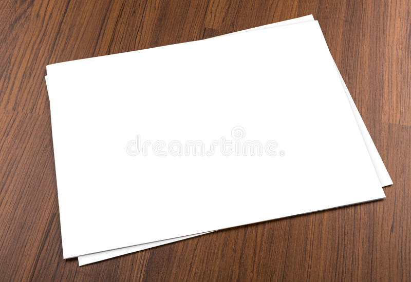 Blank catalog,brochure, magazines,book mock up on wood background royalty free stock image