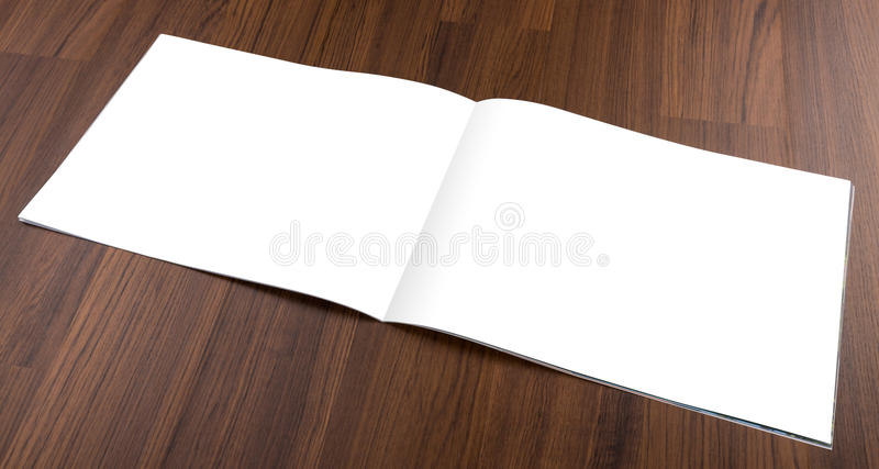 Blank catalog,brochure, magazines,book mock up on wood background royalty free stock photos