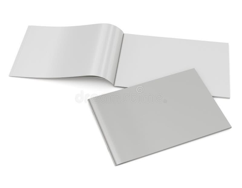 Blank catalog in A4 horizontal size stock photo