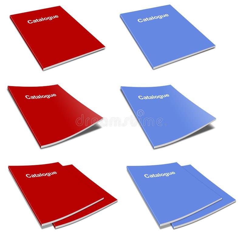 blank catatalogue över packemallwhite stock illustrationer