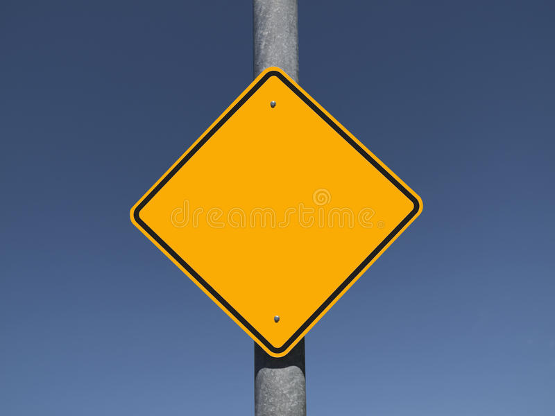 Blank Caution Sign Stock Images