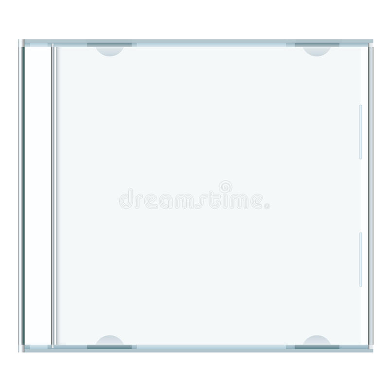 Blank cd case. White blank music cd case with room to write your own text