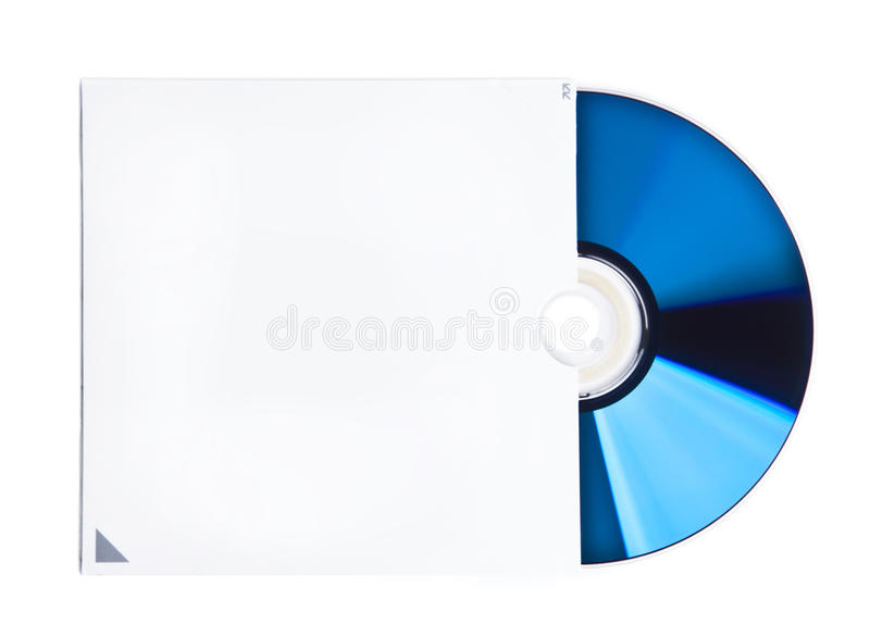 Blank CD and case stock photos