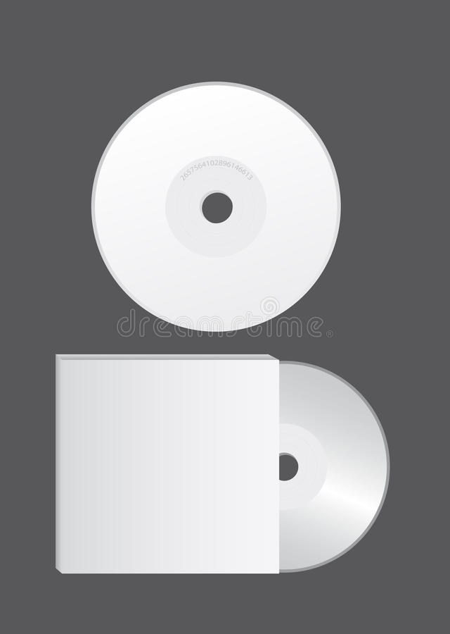 Blank cd vector royalty free illustration