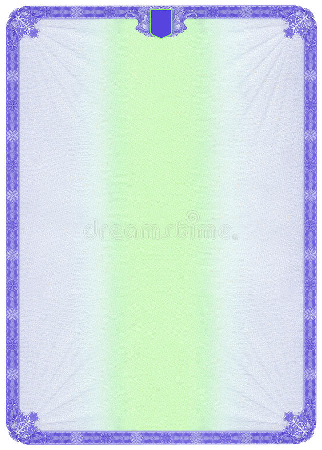 Download Blank Certificate stock illustration. Image of information - 11957289